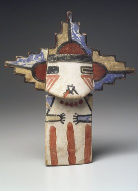 Hopi Pueblo. <em>Kachina Doll (Palhikmana)</em>, late 19th century. Wood, pigment, 13 1/2 in.  (34.3 cm). Brooklyn Museum, Museum Expedition 1904, Museum Collection Fund, 04.297.5535. Creative Commons-BY (Photo: Brooklyn Museum, 04.297.5535.jpg)