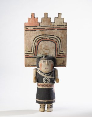 Hopi Pueblo. <em>Kachina Doll (Pahlikmana)</em>, late 19th century. Wood, pigment, cotton, feather, 21 7/8 x 9 1/4 in. (55.5 x 23.5 cm). Brooklyn Museum, Museum Expedition 1904, Museum Collection Fund, 04.297.5592. Creative Commons-BY (Photo: Brooklyn Museum, 04.297.5592_PS9.jpg)