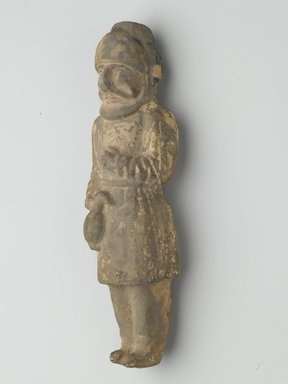 <em>Standing Figure of a Foreign Trader</em>, 618-906. Earthenware with polychrome, 10 1/4 x 2 5/8 in. (26 x 6.7 cm). Brooklyn Museum, Brooklyn Museum Collection, 04.72. Creative Commons-BY (Photo: Brooklyn Museum, 04.72_PS2.jpg)