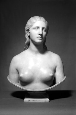 Hiram S. Powers (American, 1805-1873). <em>Eve</em>, 1859-1860. Marble, 27 9/16 x 20 7/8 x 13 in. (70 x 53 x 33 cm). Brooklyn Museum, Gift of Mary S. Croxson, 05.241. Creative Commons-BY (Photo: Brooklyn Museum, 05.241_bw.jpg)