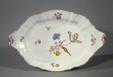 Meissen Porcelain Factory (German, founded 1710). <em>Dish or Platter</em>, 1796. Porcelain, 14 x 9 3/8 in. (35.6 x 23.8 cm). Brooklyn Museum, Gift of M. Katharine Husted, 05.584. Creative Commons-BY (Photo: Brooklyn Museum, 05.584.jpg)