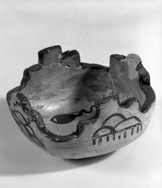 Hopi Pueblo. <em>Two Small Medicine Bowls for Sacred Meal</em>. Pottery, pigment, 6 x 9.5 cm. Brooklyn Museum, Museum Expedition 1905, Museum Collection Fund, 05.588.7140. Creative Commons-BY (Photo: Brooklyn Museum, 05.588.7140_bw.jpg)