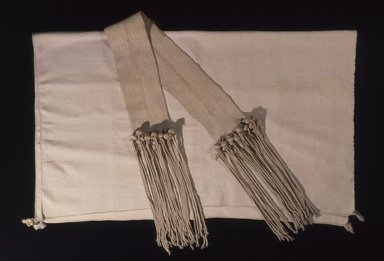 Hopi-Tewa Pueblo. <em>Wedding Sash or Girdle</em>. Cotton, corn husk?, 96 1/16 x 3 3/8in. (244 x 8.5cm). Brooklyn Museum, Museum Expedition 1905, Museum Collection Fund, 05.588.7163. Creative Commons-BY (Photo: , 05.588.7162_05.588.7163_SL4.jpg)