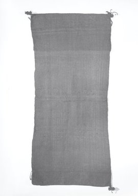 Hopi Pueblo. <em>Blue and Black Kilt</em>. Wool, twill, 38 9/16 x 17 15/16in. (98 x 45.5cm). Brooklyn Museum, Museum Expedition 1905, Museum Collection Fund, 05.588.7168. Creative Commons-BY (Photo: Brooklyn Museum, 05.588.7168_bw_SL5.jpg)