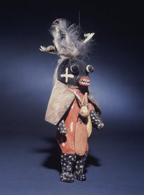Hopi Pueblo. <em>Kachina Doll</em>, late 19th century. Wood, pigment fur, cotton, horsehair, feather, shell, horn, stone, 13 × 7 1/2 × 6 1/2 in. (33 × 19.1 × 16.5 cm). Brooklyn Museum, Museum Expedition 1905, Museum Collection Fund, 05.588.7193. Creative Commons-BY (Photo: Brooklyn Museum, 05.588.7193.jpg)