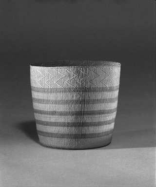 Haida. <em>Twined Berry Basket</em>, 1801-1900. Spruce root, 5 1/16 in. (12.8 cm). Brooklyn Museum, Museum Expedition 1905, Museum Collection Fund, 05.588.7326. Creative Commons-BY (Photo: Brooklyn Museum, 05.588.7326_Design_scan_bw.jpg)
