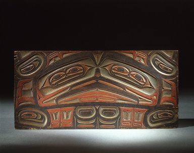 Gwa'sala Kwakwaka'wakw. <em>Coffin Board</em>, 19th century. Wood, pigment, 26 3/4 x 12 13/16 in.  (68.0 x 32.5 cm). Brooklyn Museum, Museum Expedition 1905, Museum Collection Fund, 05.588.7414.1. Creative Commons-BY (Photo: Brooklyn Museum, 05.588.7414_SL1.jpg)