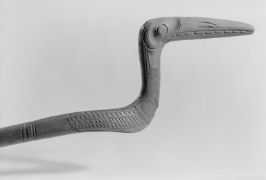Gwa'sala Kwakwaka'wakw. <em>Chief's Stick</em>, 19th century. Wood, Height: 47 1/16 in. (119.5 cm). Brooklyn Museum, Museum Expedition 1905, Museum Collection Fund, 05.588.7415. Creative Commons-BY (Photo: Brooklyn Museum, 05.588.7415_acetate_bw.jpg)