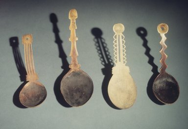 Hupa. <em>Spoon</em>, 19th century. Antler, 5 1/8 x 3 15/16 x 2 3/4 in.  (13.0 x 10.0 x 7.0 cm). Brooklyn Museum, Museum Expedition 1905, Museum Collection Fund, 05.588.7429. Creative Commons-BY (Photo: Brooklyn Museum, 05.588.7429_05.588.7535_05.588.7589_05.588.7578.jpg)