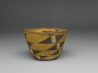 Yurok. <em>Basket</em>, 19th century. Fiber, 4 5/16 × 7 1/8 × 7 1/4 in. (11 × 18.1 × 18.4 cm). Brooklyn Museum, Museum Expedition 1905, Museum Collection Fund, 05.588.7633. Creative Commons-BY (Photo: Brooklyn Museum, 05.588.7633_PS1.jpg)