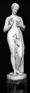 Chauncey Bradley Ives (American, 1812-1894). <em>Pandora</em>, 1871. Marble, statue: 58 x 17 x 16 3/4 in., 364 lb. (147.3 x 43.2 x 42.5 cm, 165.11kg). Brooklyn Museum, Bequest of Caroline H. Polhemus, 06.146. Creative Commons-BY (Photo: Brooklyn Museum, 06.146_cropped_glass_bw.jpg)