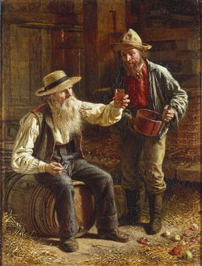 Thomas Waterman Wood (American, 1823-1903). <em>New Cider</em>, 1868. Oil on canvas, 16 5/8 x 12 5/8 in. (42.2 x 32 cm). Brooklyn Museum, Bequest of Caroline H. Polhemus, 06.311 (Photo: Brooklyn Museum, 06.311_SL1.jpg)