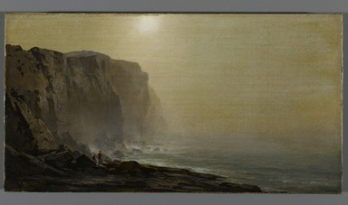 Arthur Parton (American, 1842-1914). <em>Misty Morning, Coast of Maine</em>, ca. late 1860s. Oil on canvas, 9 1/8 x 17 5/16 in. (23.2 x 44 cm). Brooklyn Museum, Bequest of Caroline H. Polhemus, 06.31 (Photo: Brooklyn Museum, 06.31_PS1.jpg)