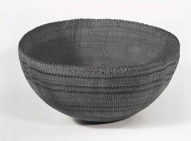 Pomo. <em>Basket</em>. Fiber, 5 1/4 x 10 3/4in. (13.3 x 27.3cm). Brooklyn Museum, Museum Expedition 1906, Museum Collection Fund, 06.331.8020. Creative Commons-BY (Photo: Brooklyn Museum, 06.331.8020_bw_SL5.jpg)