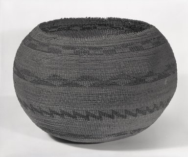 Pomo. <em>Basket Bowl</em>. Fiber, 8 3/4 x 8 7/16in. (22.2 x 21.5cm). Brooklyn Museum, Museum Expedition 1906, Museum Collection Fund, 06.331.8200. Creative Commons-BY (Photo: Brooklyn Museum, 06.331.8200_bw_SL5.jpg)