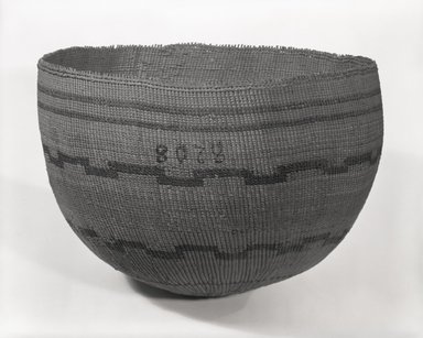 Pomo. <em>Boiling Basket</em>. Fiber, (22.3 x 34.0 cm). Brooklyn Museum, Museum Expedition 1906, Museum Collection Fund, 06.331.8208. Creative Commons-BY (Photo: Brooklyn Museum, 06.331.8208_bw_SL5.jpg)