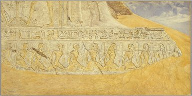 Henry Roderick Newman (American, 1843-1917). <em>Captives of Ramses II</em>, 1907. Watercolor and graphite on paper, 20 x 40 1/16 in. (50.8 x 101.8 cm). Brooklyn Museum, Gift of Alfred T. White, 07.458 (Photo: Brooklyn Museum, 07.458_SL1.jpg)