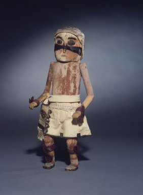 She-we-na (Zuni Pueblo). <em>Kachina Doll (Patchu)</em>, late 19th century. Wood, pigments, fur, cotton, wool, 13 9/16 x 5 1/8 in. (34.4 x 13 cm). Brooklyn Museum, Museum Expedition 1907, Museum Collection Fund, 07.467.8416. Creative Commons-BY (Photo: Brooklyn Museum, 07.467.8416.jpg)