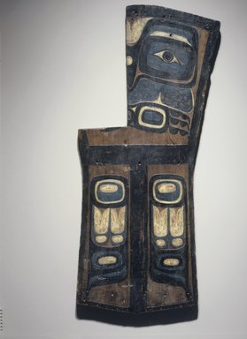 Gwa'sala Kwakwaka'wakw. <em>Grave Marker in the Form of a Copper</em>, late 19th century. Wood, pigment, 50 x 20 in. (127 x 50.8 cm). Brooklyn Museum, Museum Expedition 1908, Museum Collection Fund, 08.491.8895. Creative Commons-BY (Photo: Brooklyn Museum, 08.491.8895.jpg)