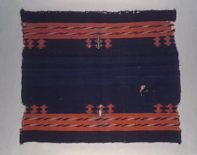 Navajo. <em>Woman's Dress or Manta</em>, 19th century. Hand-spun wool, 43 3/4 x 50 3/4 in. (111.1 x 128.9 cm). Brooklyn Museum, Museum Collection Fund, 08.491.8955. Creative Commons-BY (Photo: Brooklyn Museum, 08.491.8955.jpg)