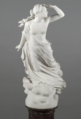 Randolph Rogers (American, 1825-1892). <em>The Lost Pleiad</em>, ca. 1874-1875. Marble, Statue: 49 3/4 x 23 1/4 x 34 1/2 in. (126.4 x 59.1 x 87.6 cm). Brooklyn Museum, Gift of Mrs. J. L. Barclay, 09.770. Creative Commons-BY (Photo: Brooklyn Museum, 09.770_front_PS2.jpg)