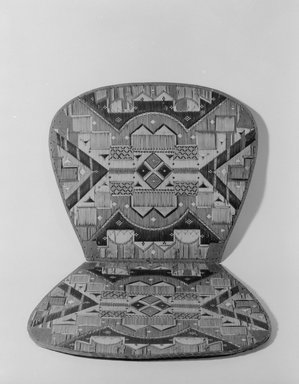 Micmac (Mi'Kmaq). <em>Chair Seat</em>. Bark, porcupine quill, 9 3/8 × 14 15/16 in. (23.8 × 38 cm). Brooklyn Museum, Brooklyn Museum Collection, 09.801. Creative Commons-BY (Photo: Brooklyn Museum, 09.801_view1_acetate_bw.jpg)