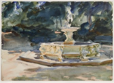 John Singer Sargent (American, born Italy, 1856-1925). <em>Aranjuez</em>, ca. 1903. Translucent and opaque watercolor and graphite, with graphite underdrawing, 10 x 14 1/16 in. (25.4 x 35.7 cm). Brooklyn Museum, Purchased by Special Subscription, 09.809 (Photo: Brooklyn Museum, 09.809_PS6.jpg)