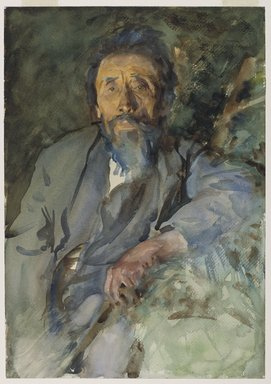 John Singer Sargent (American, born Italy, 1856-1925). <em>A Tramp</em>, ca. 1904-1906. Translucent watercolor and touches of opaque watercolor, 20 x 14in. (50.8 x 35.6cm). Brooklyn Museum, Purchased by Special Subscription, 09.810 (Photo: Brooklyn Museum, 09.810_PS6.jpg)