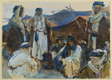 John Singer Sargent (American, born Italy, 1856-1925). <em>Bedouin Camp</em>, 1905-1906. Opaque and translucent watercolor, 10 x 14 1/16 in. (25.4 x 35.7 cm). Brooklyn Museum, Purchased by Special Subscription, 09.811 (Photo: Brooklyn Museum, 09.811_PS6.jpg)