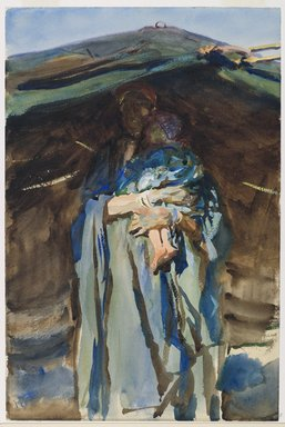 John Singer Sargent (American, born Italy, 1856-1925). <em>Bedouin Mother</em>, 1905-1906. Opaque and translucent watercolor with graphite underdrawing, 18 1/16 x 12 in. (45.9 x 30.5 cm). Brooklyn Museum, Purchased by Special Subscription, 09.812 (Photo: Brooklyn Museum, 09.812_PS6.jpg)