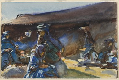 John Singer Sargent (American, born Italy, 1856-1925). <em>Black Tent</em>, 1905-1906. Opaque and translucent watercolor, 12 x 18 1/8 in. (30.5 x 46 cm). Brooklyn Museum, Purchased by Special Subscription, 09.815 (Photo: Brooklyn Museum, 09.815_PS6.jpg)