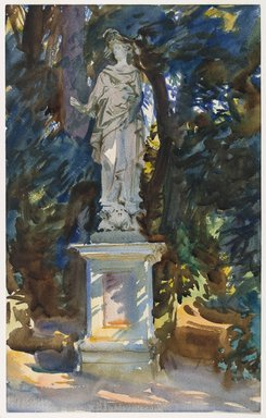 John Singer Sargent (American, born Italy, 1856-1925). <em>Boboli</em>, ca. 1906. Translucent and opaque watercolor with graphite underdrawing, 18 1/8 x 11 7/16in. (46 x 29.1cm). Brooklyn Museum, Purchased by Special Subscription, 09.817 (Photo: Brooklyn Museum, 09.817_PS6.jpg)