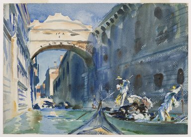 John Singer Sargent (American, born Italy, 1856-1925). <em>The Bridge of Sighs</em>, ca. 1903-1904. Translucent and opaque watercolor with graphite and red-pigmented underdrawing, 10 x 14in. (25.4 x 35.6cm). Brooklyn Museum, Purchased by Special Subscription, 09.819 (Photo: Brooklyn Museum, 09.819_PS6.jpg)
