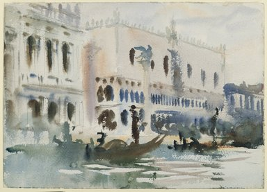 John Singer Sargent (American, born Italy, 1856-1925). <em>From the Gondola</em>, ca. 1903-1904. Translucent watercolor and touches of opaque watercolor and graphite, with graphite underdrawing, 10 x 14 in. (25.4 x 35.5 cm). Brooklyn Museum, Purchased by Special Subscription, 09.820 (Photo: Brooklyn Museum, 09.820_PS6.jpg)
