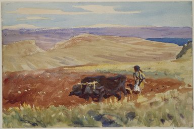 John Singer Sargent (American, born Italy, 1856-1925). <em>Hills of Galilee</em>, ca. 1905-1906. Watercolor, 12 x 18 in. (30.5 x 45.7 cm). Brooklyn Museum, Purchased by Special Subscription, 09.823 (Photo: Brooklyn Museum, 09.823_SL3.jpg)