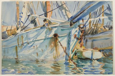 John Singer Sargent (American, born Italy, 1856-1925). <em>In a Levantine Port</em>, ca. 1905-1906. Translucent watercolor and touches of opaque watercolor with graphite underdrawing, 12 1/16 x 18 1/8 in. (30.6 x 46 cm). Brooklyn Museum, Purchased by Special Subscription, 09.825 (Photo: Brooklyn Museum, 09.825_PS6.jpg)