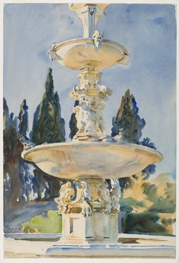John Singer Sargent (American, born Italy, 1856-1925). <em>In a Medici Villa</em>, 1906. Translucent watercolor and touches of opaque watercolor with graphite underdrawing, 21 3/16 x 14 3/8in. (53.8 x 36.5cm). Brooklyn Museum, Purchased by Special Subscription, 09.826 (Photo: Brooklyn Museum, 09.826_PS6.jpg)
