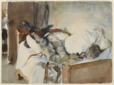 John Singer Sargent (American, born Italy, 1856-1925). <em>In Switzerland</em>, ca. 1905. Translucent watercolor and graphite and touches of opaque watercolor, 9 11/16 x 13 1/16 in. (24.6 x 33.2 cm). Brooklyn Museum, Purchased by Special Subscription, 09.827 (Photo: Brooklyn Museum, 09.827_PS6.jpg)