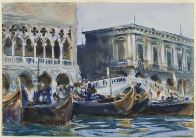 John Singer Sargent (American, born Italy, 1856-1925). <em>La Riva</em>, ca. 1903-1904. Opaque and translucent watercolor with graphite underdrawing, 14 x 20 1/16 in. (35.6 x 50.9 cm). Brooklyn Museum, Purchased by Special Subscription, 09.828 (Photo: Brooklyn Museum, 09.828_PS6.jpg)