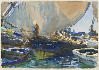 John Singer Sargent (American, born Italy, 1856-1925). <em>Melon Boats</em>, ca. 1908. Opaque and translucent watercolor with graphite underdrawing, 14 x 19 15/16 in. (35.6 x 50.7 cm). Brooklyn Museum, Purchased by Special Subscription, 09.829 (Photo: Brooklyn Museum, 09.829_PS6.jpg)