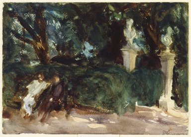 John Singer Sargent (American, born Italy, 1856-1925). <em>Queluz</em>, ca. 1902-1903. Watercolor, 9 15/16 x 13 15/16 in. (25.2 x 35.4 cm). Brooklyn Museum, Purchased by Special Subscription, 09.835 (Photo: Brooklyn Museum, 09.835_SL1.jpg)