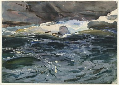 John Singer Sargent (American, born Italy, 1856-1925). <em>Salmon River</em>, 1901. Opaque and translucent watercolor and graphite, 9 15/16 x 13 15/16 in. (25.3 x 35.4 cm). Brooklyn Museum, Purchased by Special Subscription, 09.837 (Photo: Brooklyn Museum, 09.837_PS6.jpg)