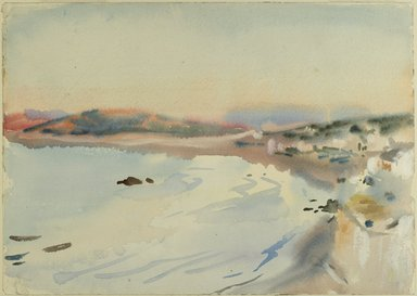 John Singer Sargent (American, born Italy, 1856-1925). <em>Tangier</em>, ca. 1895. Translucent and opaque watercolor, 10 x 13 15/16 in. (25.4 x 35.4 cm). Brooklyn Museum, Purchased by Special Subscription, 09.841 (Photo: Brooklyn Museum, 09.841_PS6.jpg)