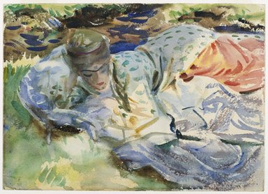 John Singer Sargent (American, born Italy, 1856-1925). <em>Zuleika</em>, ca. 1906. Translucent and opaque watercolor, 10 x 13 15/16 in. (25.4 x 35.4 cm). Brooklyn Museum, Purchased by Special Subscription, 09.847 (Photo: Brooklyn Museum, 09.847_PS6.jpg)