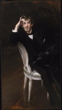 Giovanni Boldini (Italian, 1842-1931). <em>Portrait of James McNeill Whistler</em>, 1897. Oil on canvas, 67 1/4 × 37 1/4 in. (170.8 × 94.6 cm). Brooklyn Museum, Gift of A. Augustus Healy, 09.849 (Photo: Brooklyn Museum, 09.849_SL1.jpg)
