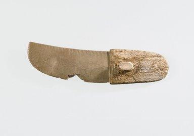 <em>Ritual Knife</em>, ca. 3300-3100 B.C.E. Flint, elephant ivory, 2 1/16 x 9 3/16 in. (5.3 x 23.4 cm). Brooklyn Museum, Charles Edwin Wilbour Fund, 09.889.118. Creative Commons-BY (Photo: Brooklyn Museum, 09.889.118_view4_SL1.jpg)