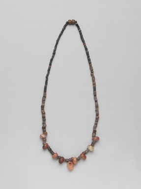 <em>Necklace</em>, ca. 3850-3500 B.C.E. Quartz, carnelian, agate, steatite, serpentine, Approximate length: 18 7/8 in. (48 cm). Brooklyn Museum, Charles Edwin Wilbour Fund, 09.889.313a. Creative Commons-BY (Photo: , 09.889.313a_PS9.jpg)