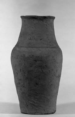 <em>Ovoid Shaped Storage Pot</em>, ca. 3300-3100 B.C.E. Terracotta, 13 1/4 x Greatest Diam. 7 5/16 in. (33.7 x 18.6 cm). Brooklyn Museum, Charles Edwin Wilbour Fund, 09.889.645. Creative Commons-BY (Photo: Brooklyn Museum, 09.889.645_bw.jpg)