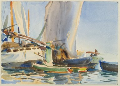John Singer Sargent (American, born Italy, 1856-1925). <em>The Giudecca</em>, ca. 1904. Translucent watercolor and touches of opaque watercolor and graphite, with graphite underdrawing, 10 x 14in. (25.4 x 35.6cm). Brooklyn Museum, Purchased by Special Subscription, 09.890 (Photo: Brooklyn Museum, 09.890_PS6.jpg)