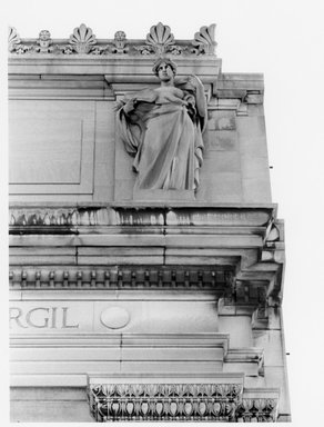 Charles Augustus Heber (American, born Germany, 1875-1956). <em>The Roman Epic</em>, 1909. Indiana limestone, Approx. height: 144 in. (365.8 cm). Brooklyn Museum, Gift of the City of New York, Parks and Recreation, 09.937.30. Creative Commons-BY (Photo: Brooklyn Museum, 09.937.30_print_bw.jpg)